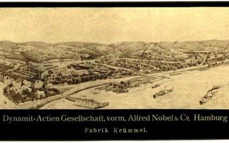 Dünn besiedelt, aber nah an Hamburg – Geesthacht erschien 1865 als ideale Lage für eine Dynamitfabrik