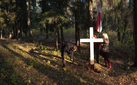 Eine Gedenkstädte in Weißrussland, die am an stalinistische Massenexekutionen erinnert