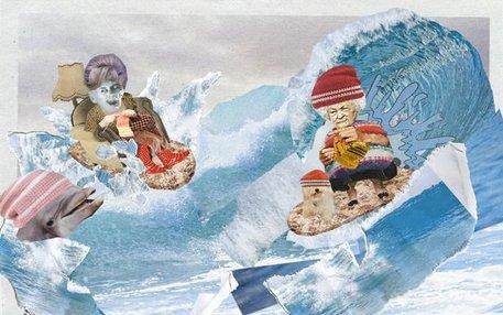 Auf der Welle kann Oma noch mitreiten: Die Surfer- und Skaterszene hat gerne wieder gute alte Handarbeit auf dem Kopf