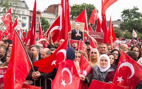 Erdogan Demo in Köln