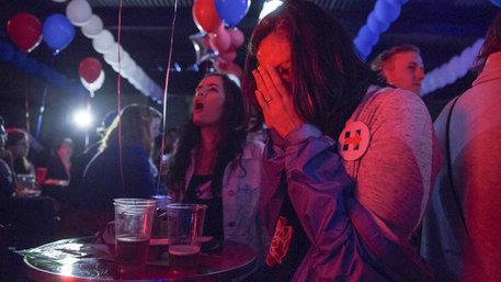 Enttäuschte Anhänger der US-Demokratischen nach den Wahlen