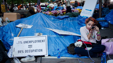 Occupy camp in New York