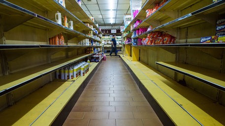 Leerer Supermarkt in Venezuela