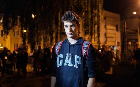 Junger Protestierender