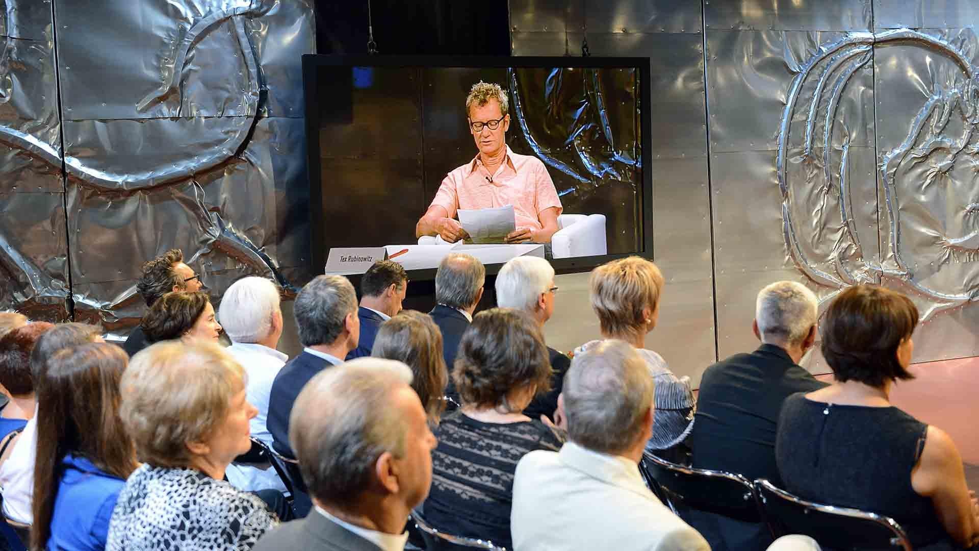 Der Autor Tex Rubinowitz beim Bachmannpreis 2014