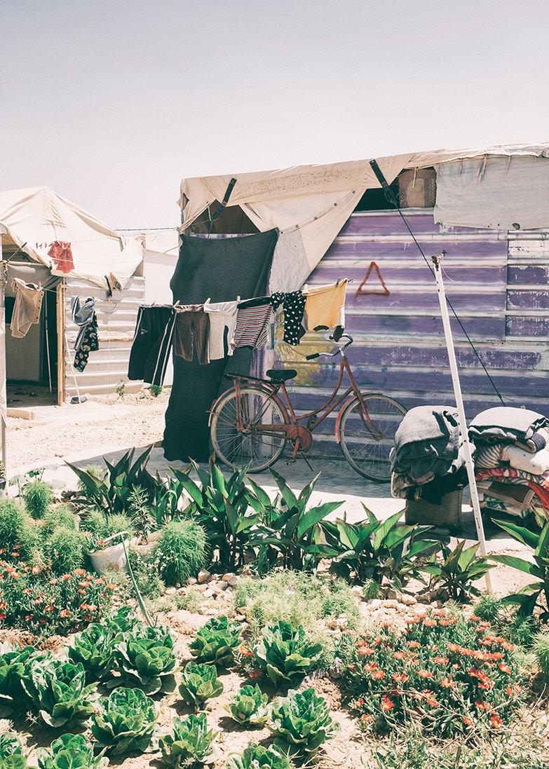 Kleiner Garten in Zaatari